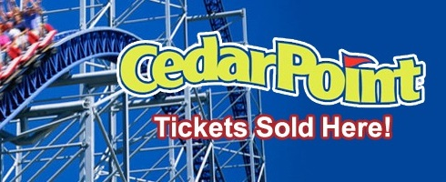 Image of Cedar Point logo, Cedar Point tickets sold at TUFCU.