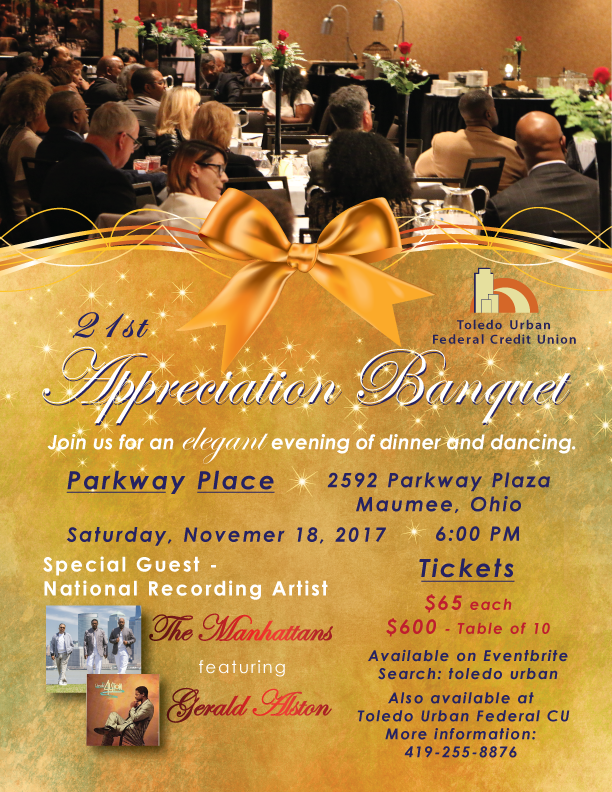 10 7 2017 appreciation banquet flyer 1 toledo urban federal credit
