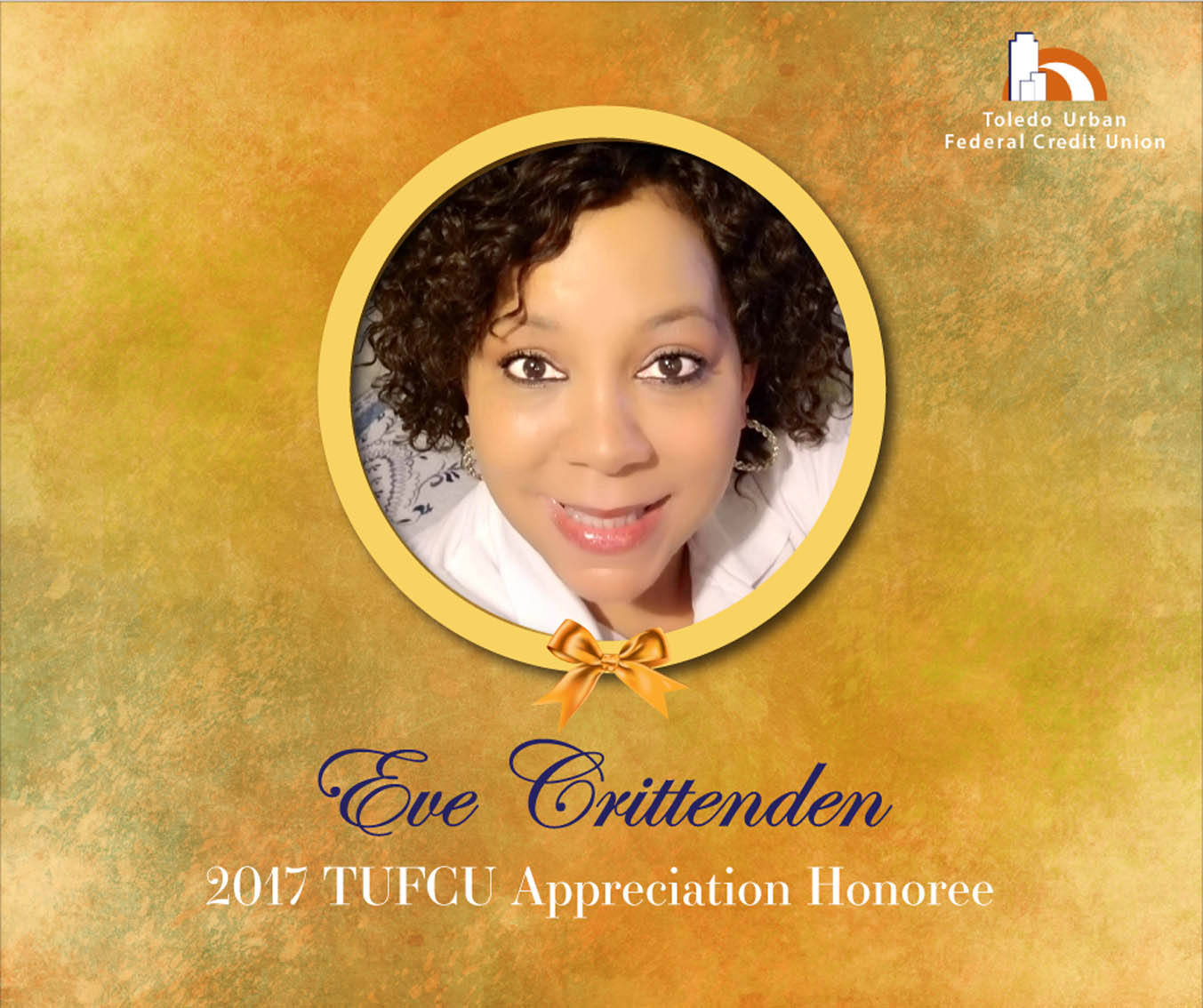 Image of Eve Crittenden, 2017 T.U.F.C.U. Appreciation Honoree.