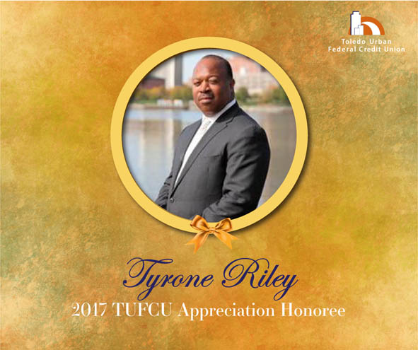 Image of Tyrone Riley, 2017 T.U.F.C.U. Appreciation Honoree.