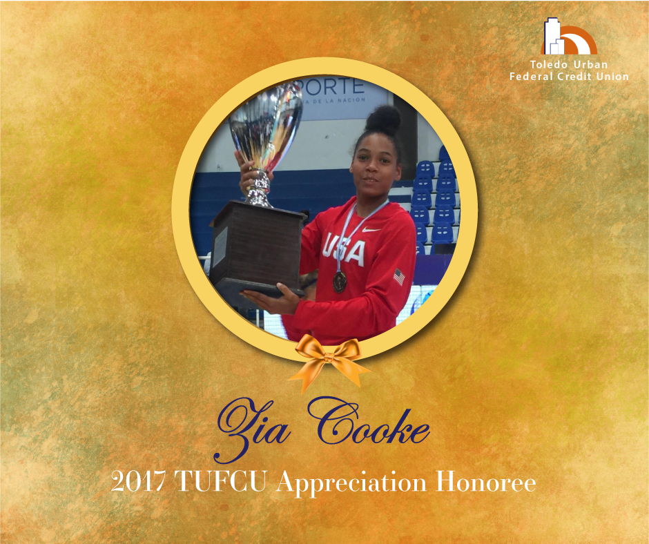 Image of Zia Cooke, 2017 T.U.F.C.U. Appreciation Honoree.